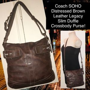 Coach SOHO Leather Legacy Duffle Crossbody Purse!
